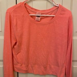 Peach colored cropped long sleeve